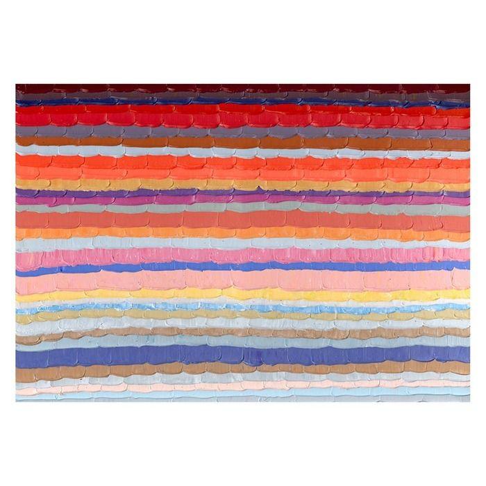 Tableau abstrait lignes horizontales couleur (200 x 140 cm) | Série Abstrait