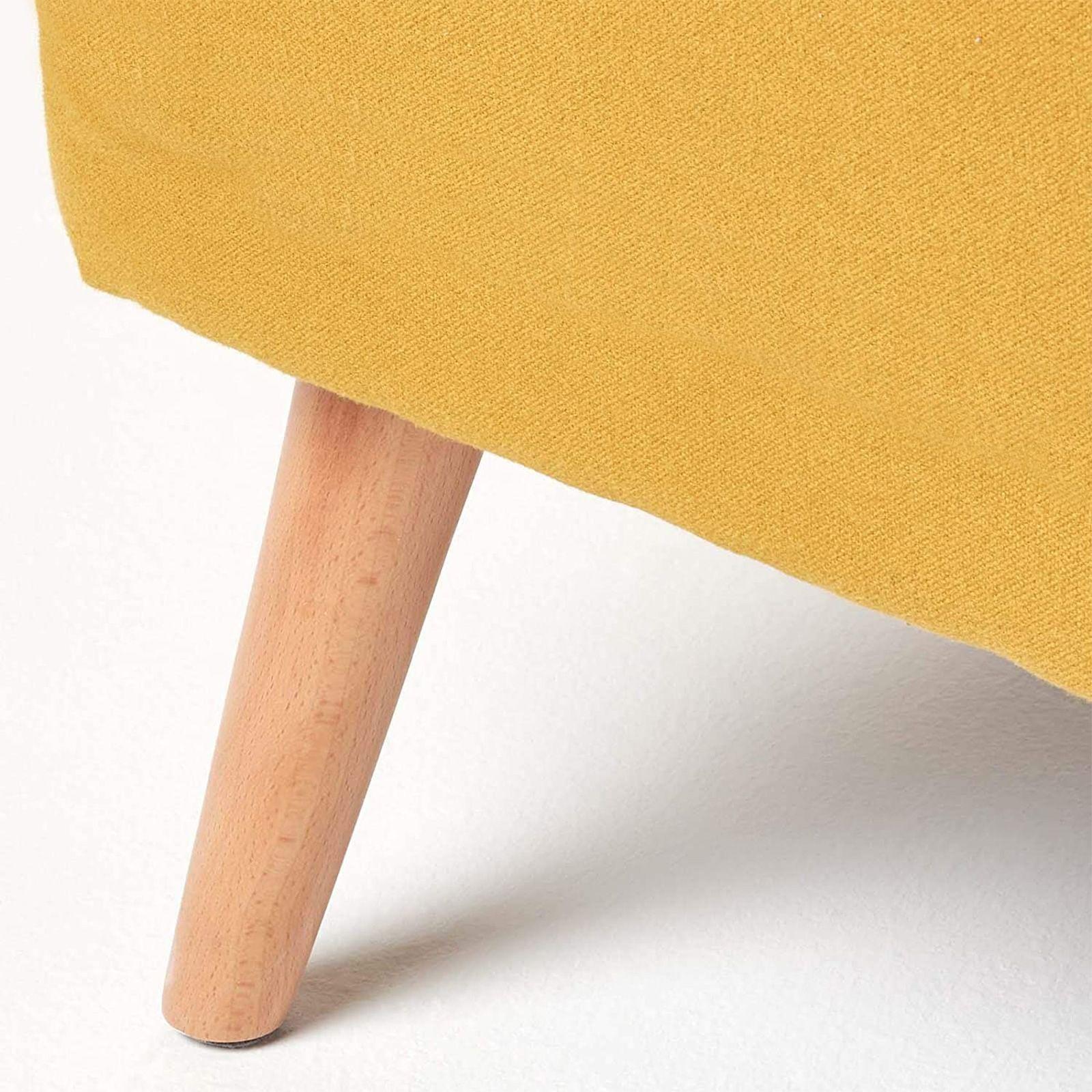 DILVAN | Sillón tapizado mostaza (72 x 76 x 77 cm)