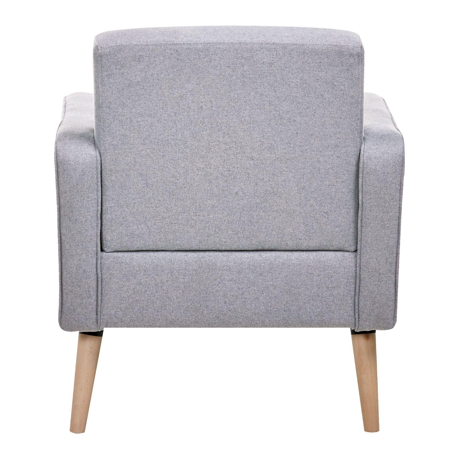 NOYAZU | Sillón tapizado gris (70 x 77 x 77 cm)