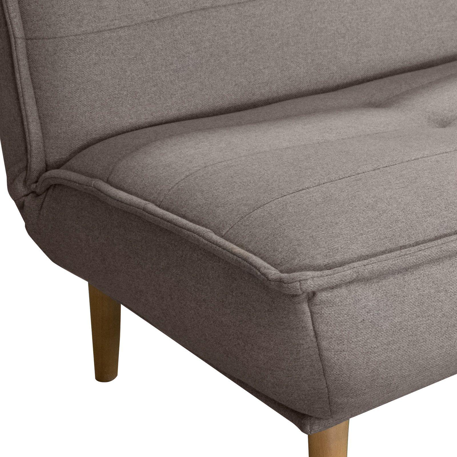 Canapé-lit tapissé en marron  (194 x 95 x 89 cm) | Série Hufranch