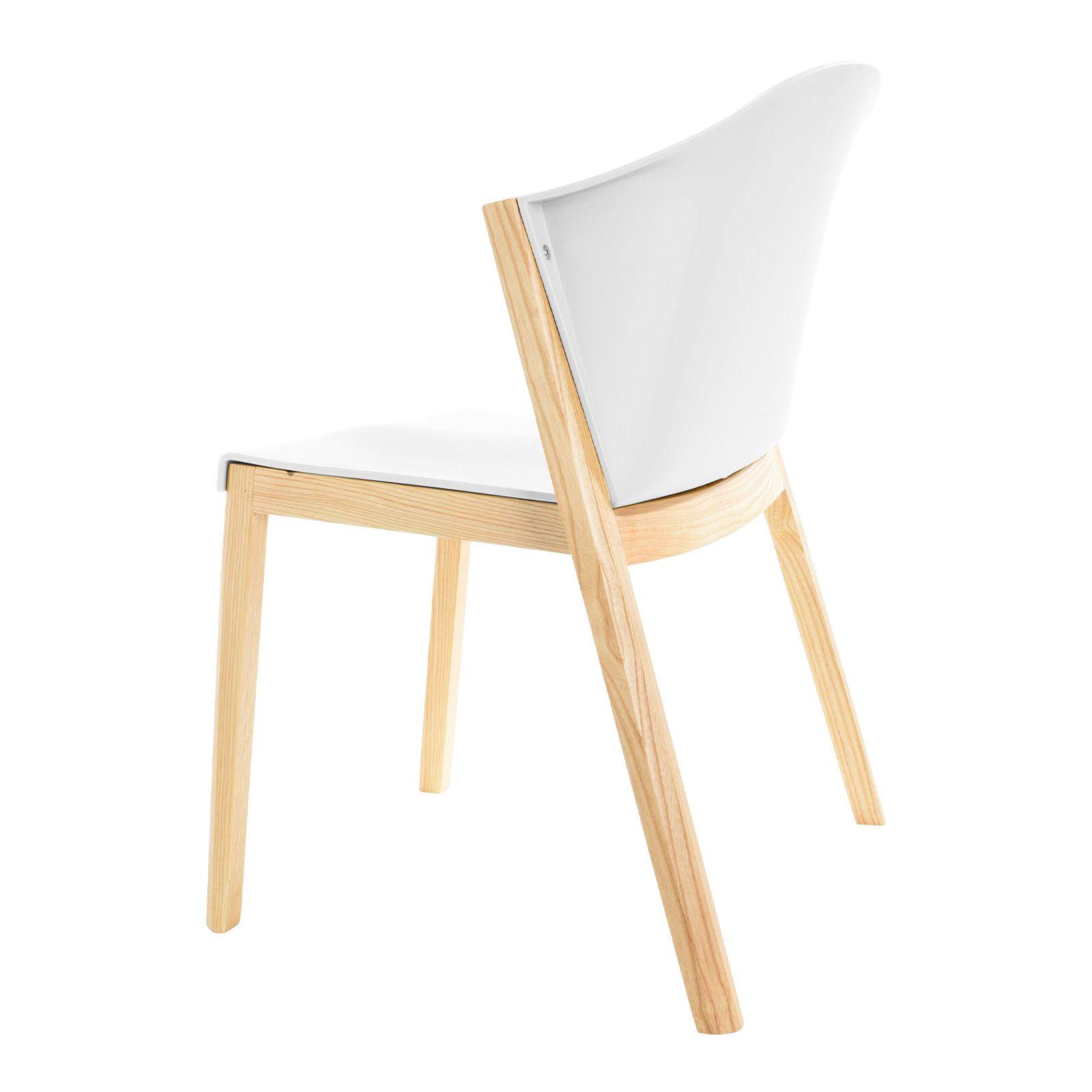 JUANSAN | Silla con estructura de madera de haya y policarbonato (61 x 58 x 78,5 cm)