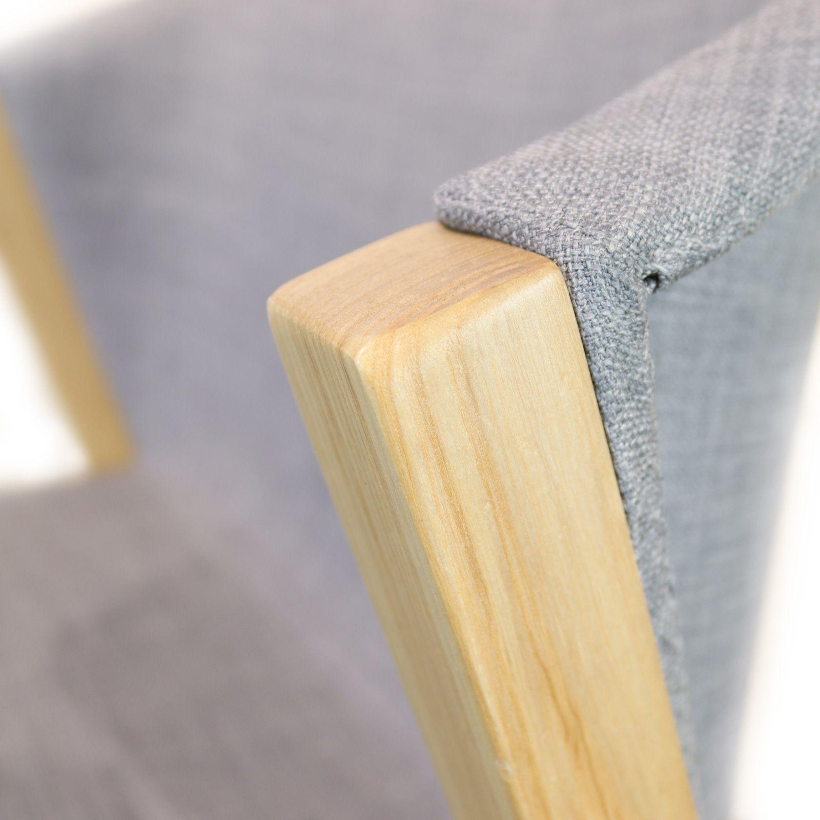 JUANSAN Linen | Silla con estructura de madera de haya y tapizado (61 x 58 x 78,5 cm)