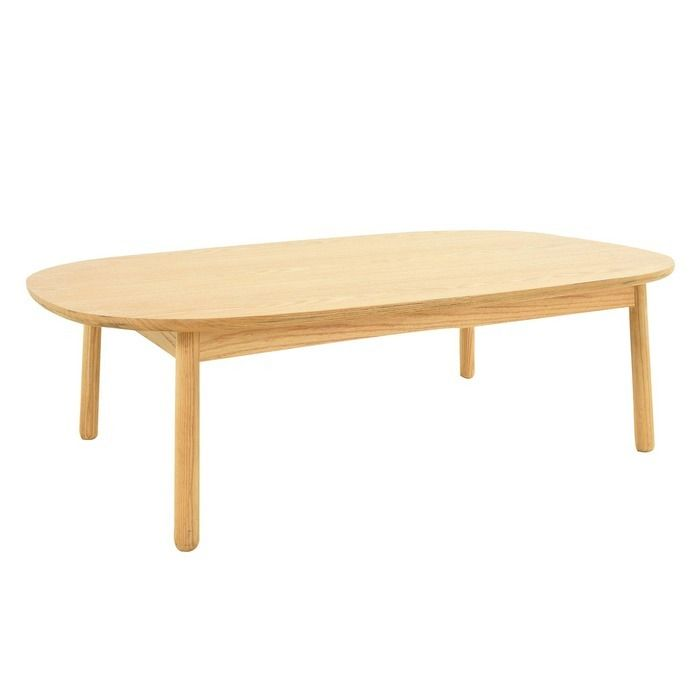 Table basse en bois de frêne  (110 x 60 x 32,5 cm) | Série Lezquer