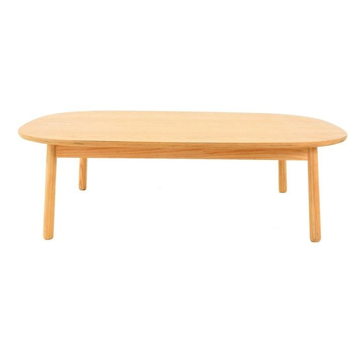LEZQUER | Mesa de centro en madera de fresno (110 x 60 x 32,5 cm)