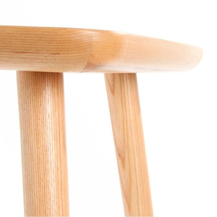 LEZQUER   Mesa auxiliar en madera de fresno (46 x 46 x 54 cm)
