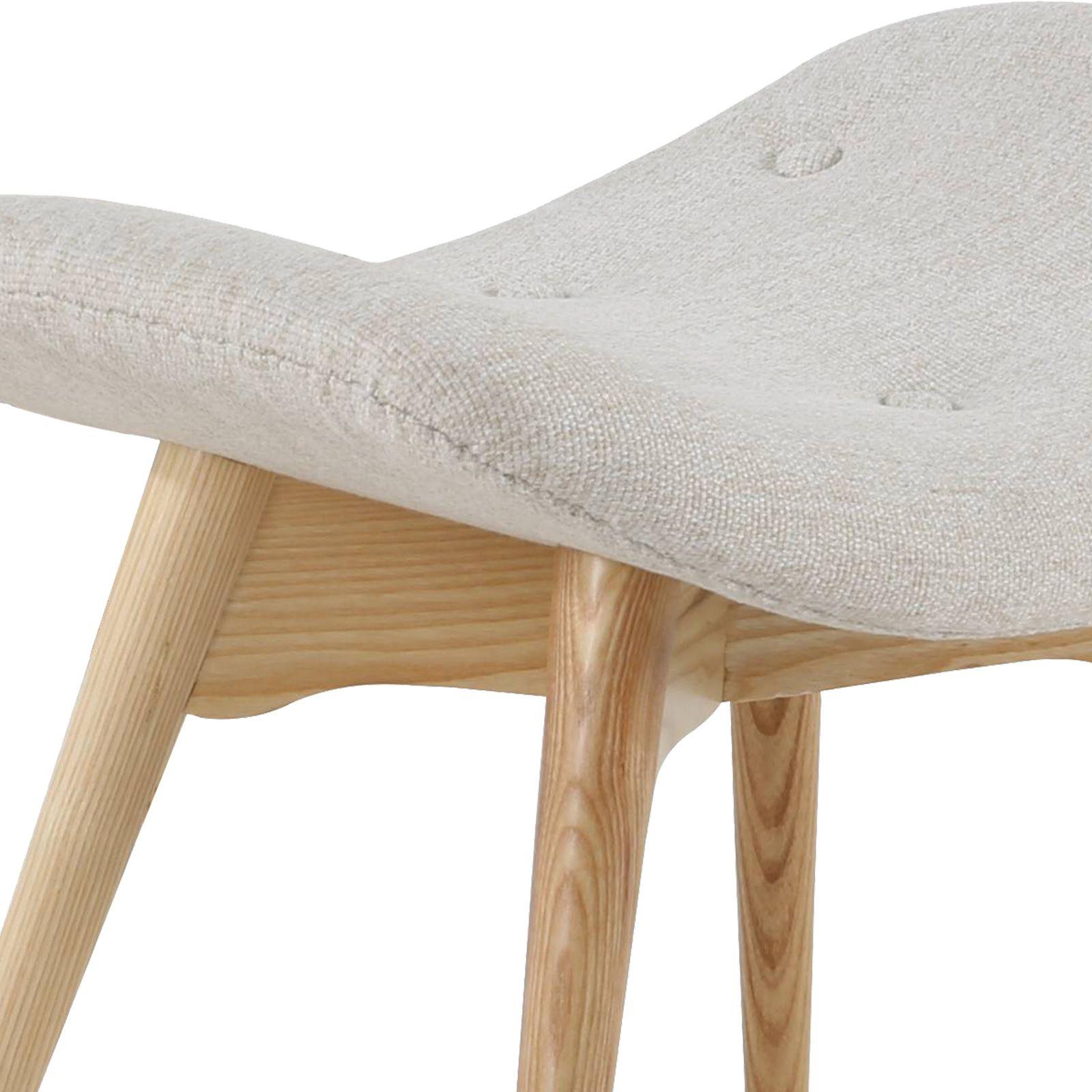 MOGUERA | Reposapiés tapizado claro (64 x 41 x 44 cm)
