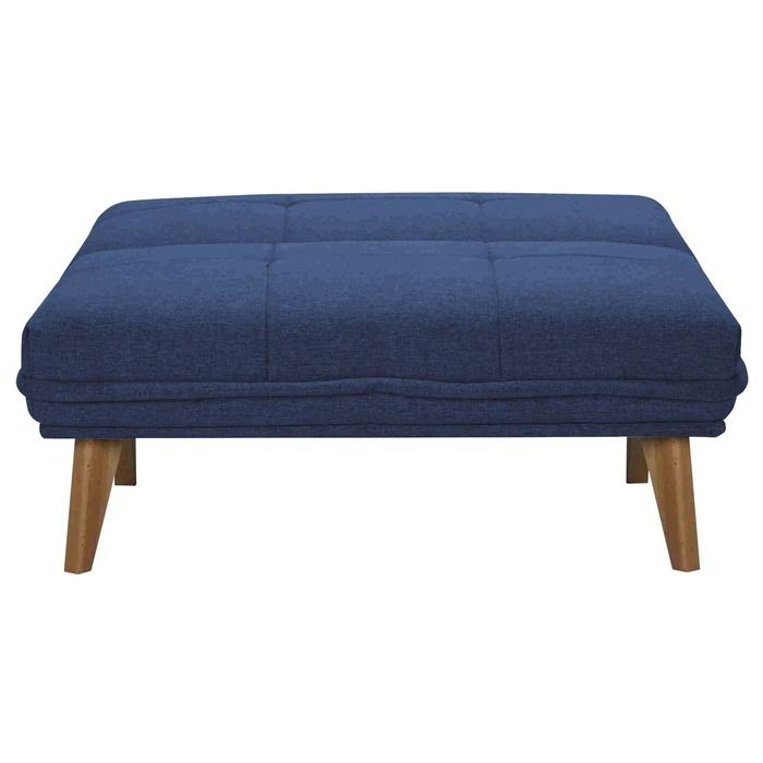 BICOL | Sillón cama tapizado azul oceáno (95 x 86 x 81 cm)