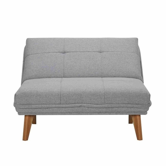 BICOL | Sillón cama tapizado gris claro (95 x 86 x 81 cm)