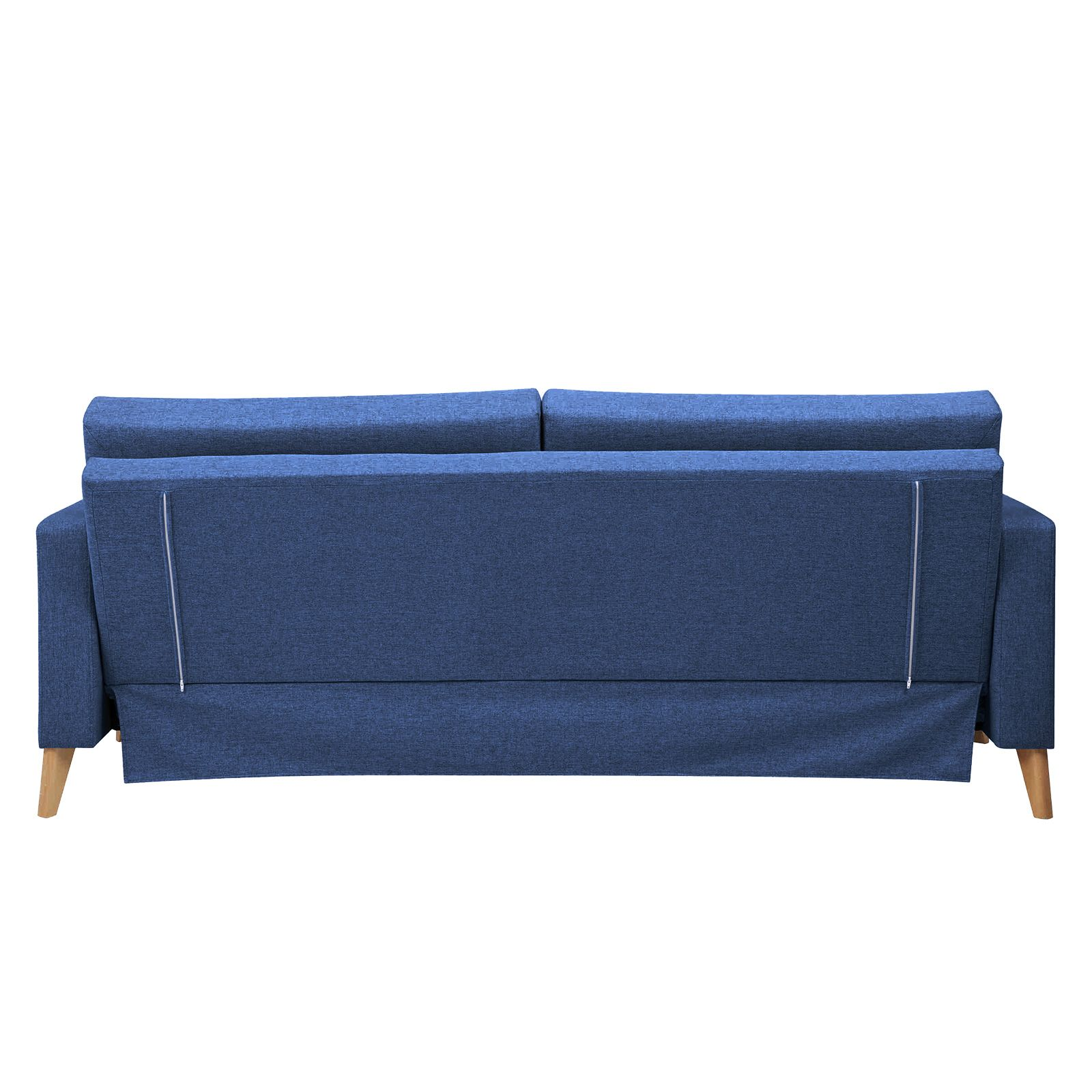 AZURRE | Sofá cama tapizado en azul oceáno (201 x 90 x 81 cm)