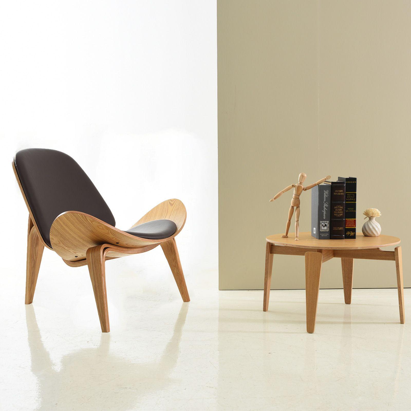 NICO | Butaca de madera contrachapada con cojín gris oscuro (82 x 89 x 74 cm)