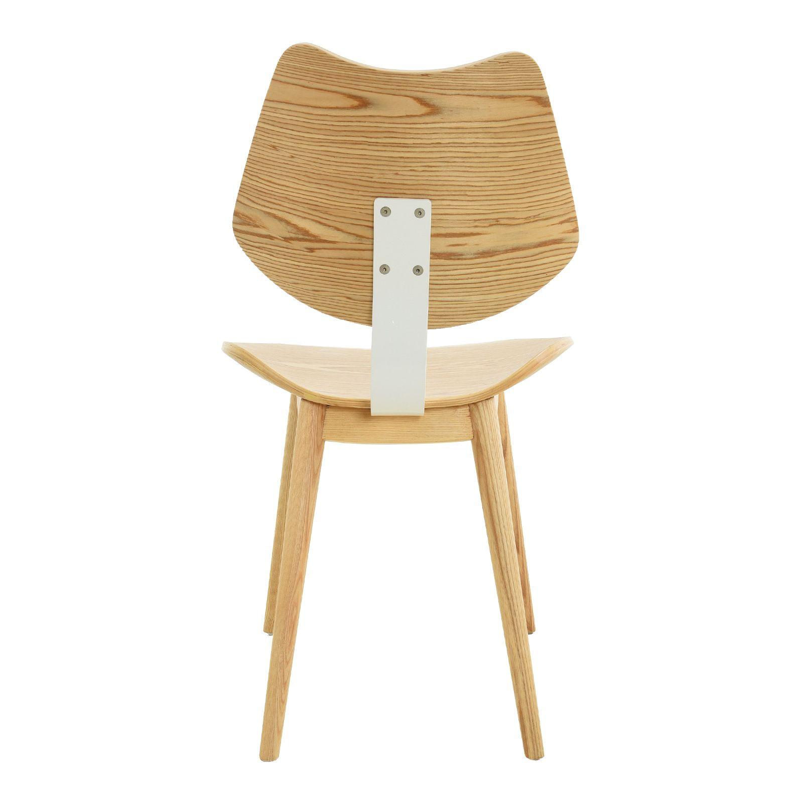 JAN | Silla de madera de fresno natural y estructura metálica (53 x 52,5 x 83,5 cm)