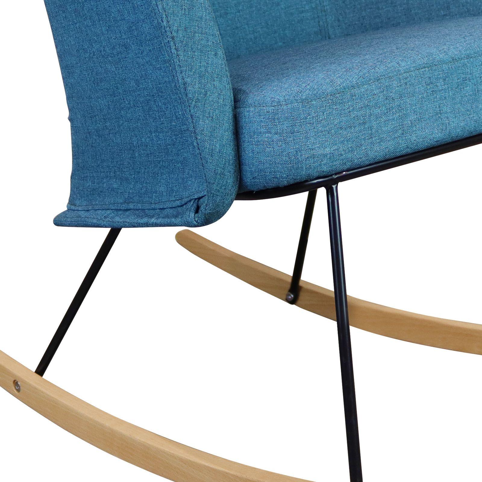 KAMIL | Mecedora tapizada aguamarina (68,4 x 82,3 x 86,5 cm)