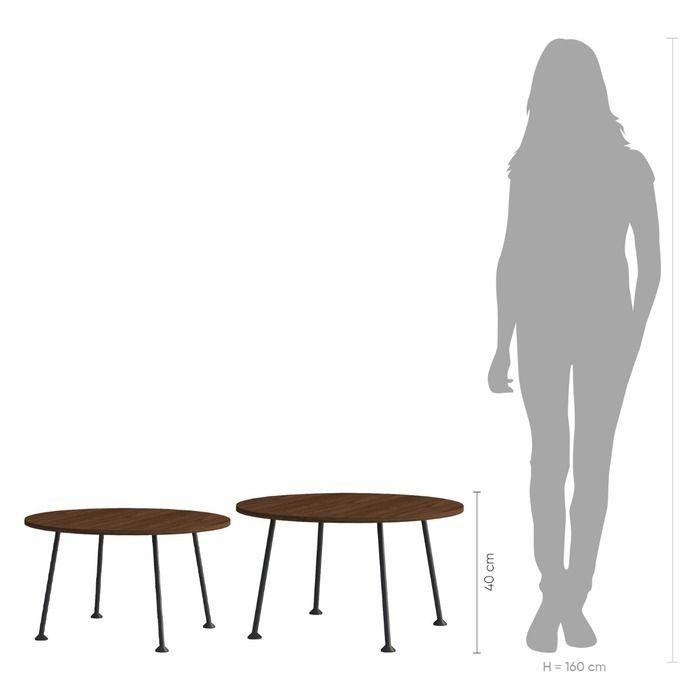 Table d'appoint (Ø80 cm x H 40 cm) | Série DOGGIE OAK