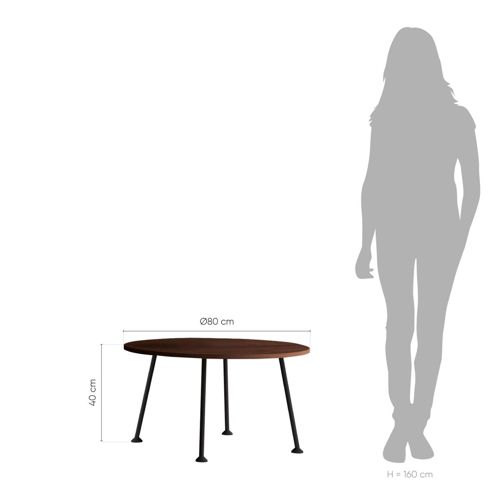 BIG DOGGIE Walnut | Mesa auxiliar (Ø80 cm x H 40 cm)