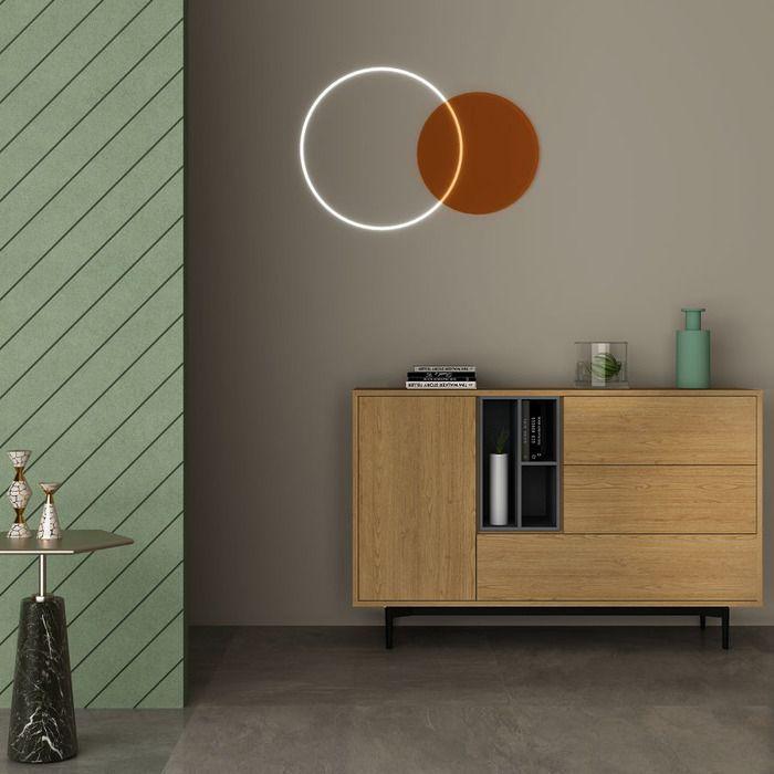 ONNIE Grey | Mueble aparador (145 x 40 x 95 cm)