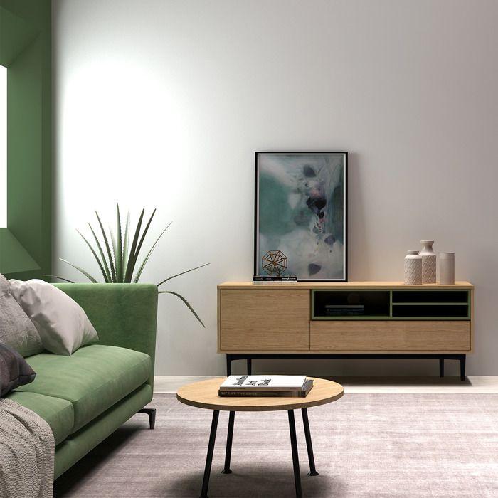 Meuble TV (155,1 x 39,6 x 60,2)   Série ONNIE BLUE