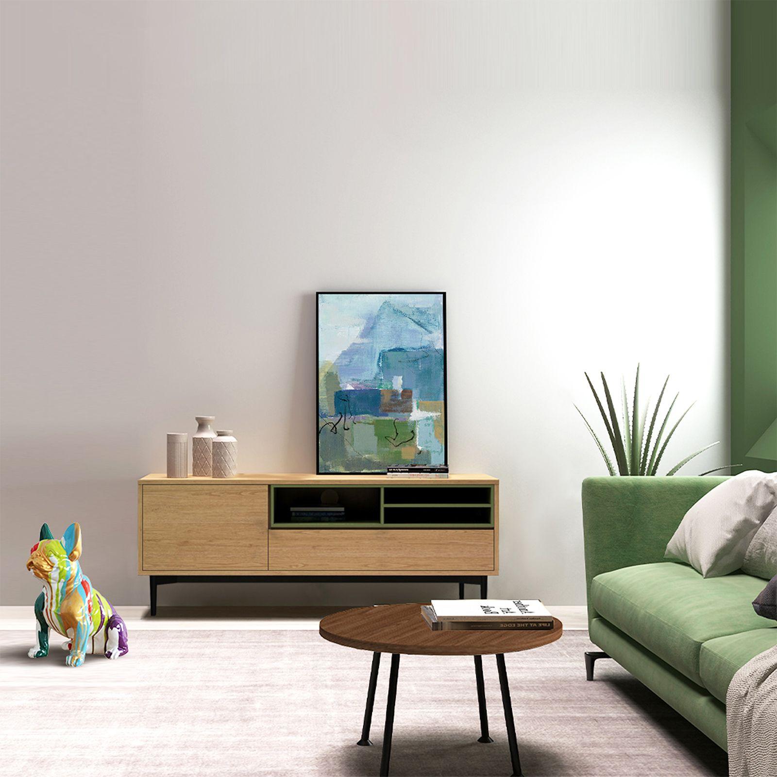 ONNIE Green   Mueble para TV (155 x 40 x 60)