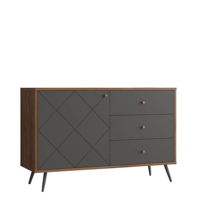 UKKO Grey | Mueble aparador (118 x 40 x 76,6 cm)