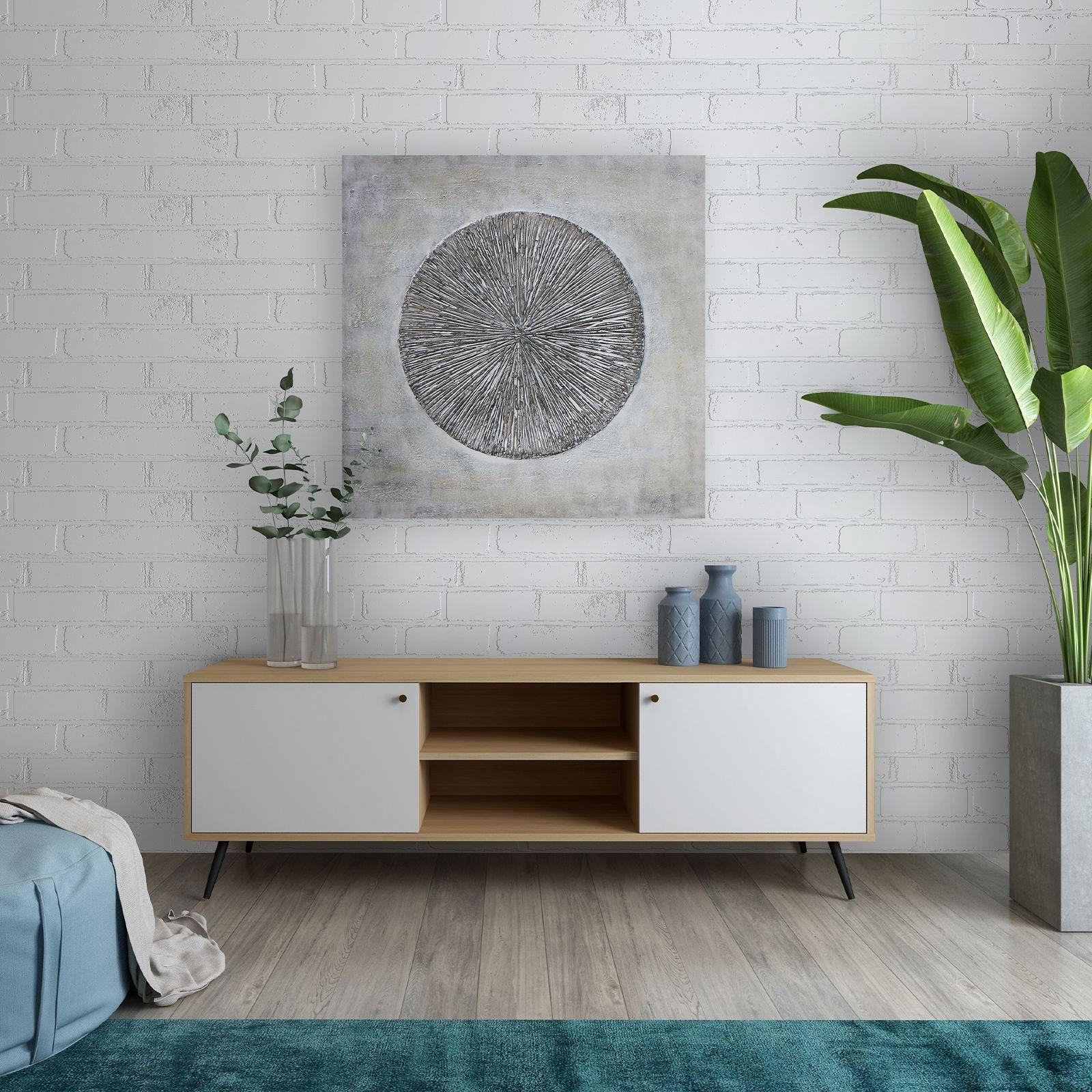UKKO White   Mueble para TV (176 x 40 x 57,5 cm)