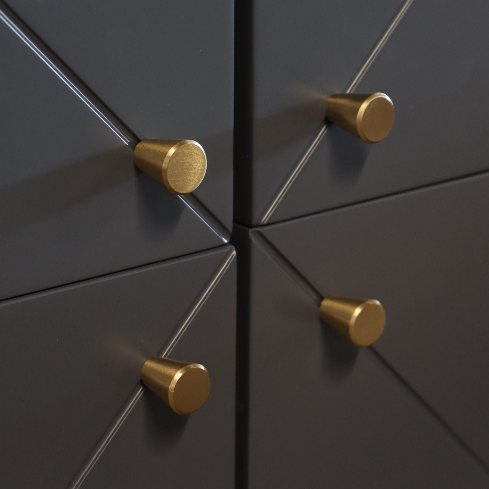 UKKO Grey | Aparador alto de 4 puertas (118 x 40 x 135 cm)