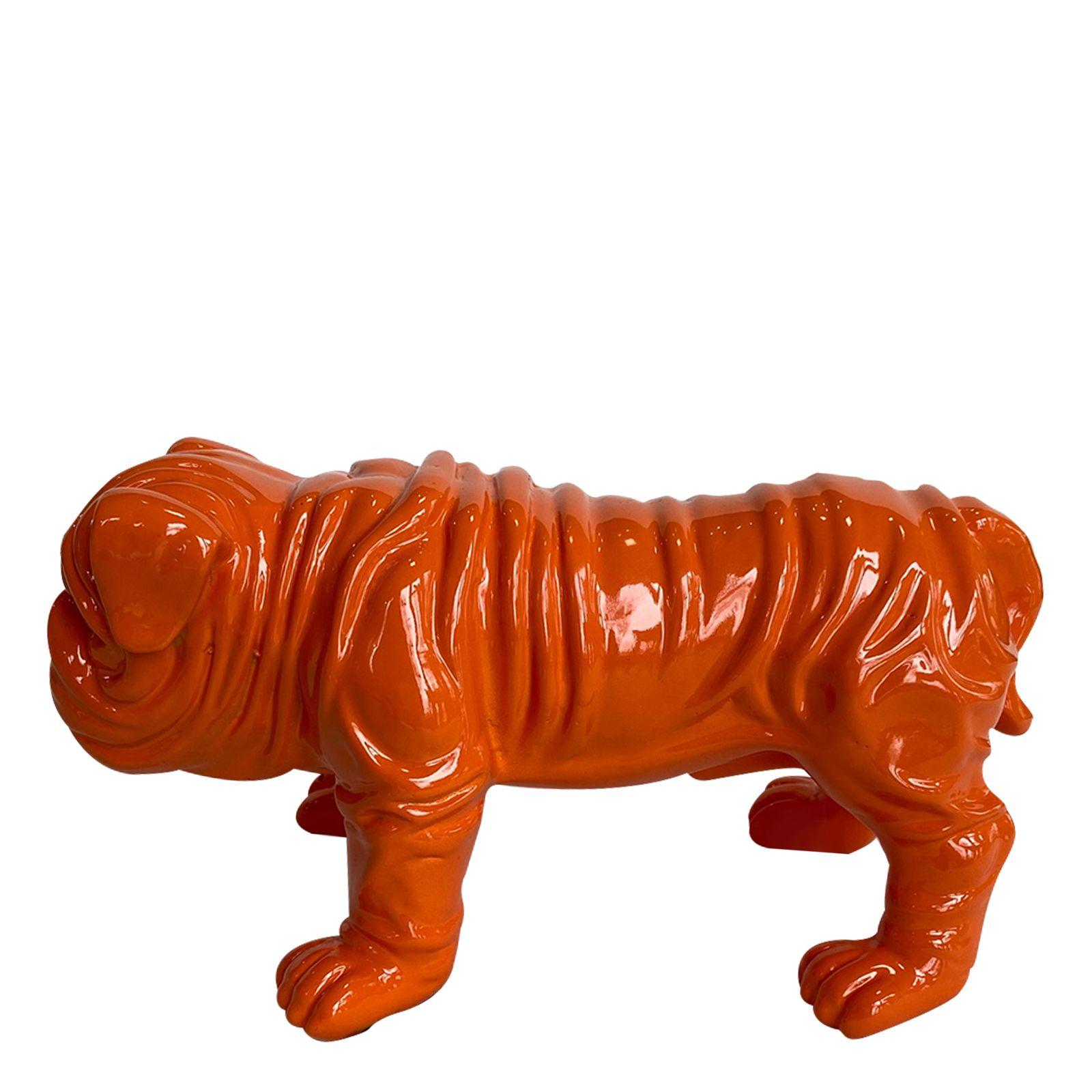 Serie ANIMALES XS   TROY Bulldog naranja