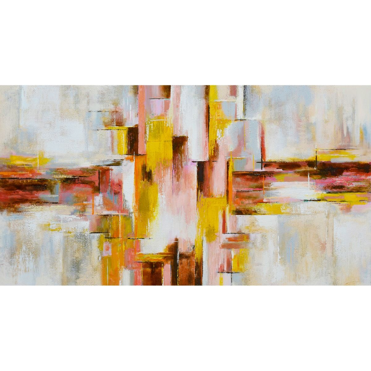 Serie ABSTRACTO | Cuadro abstracto rosa (180 x 97 cm)