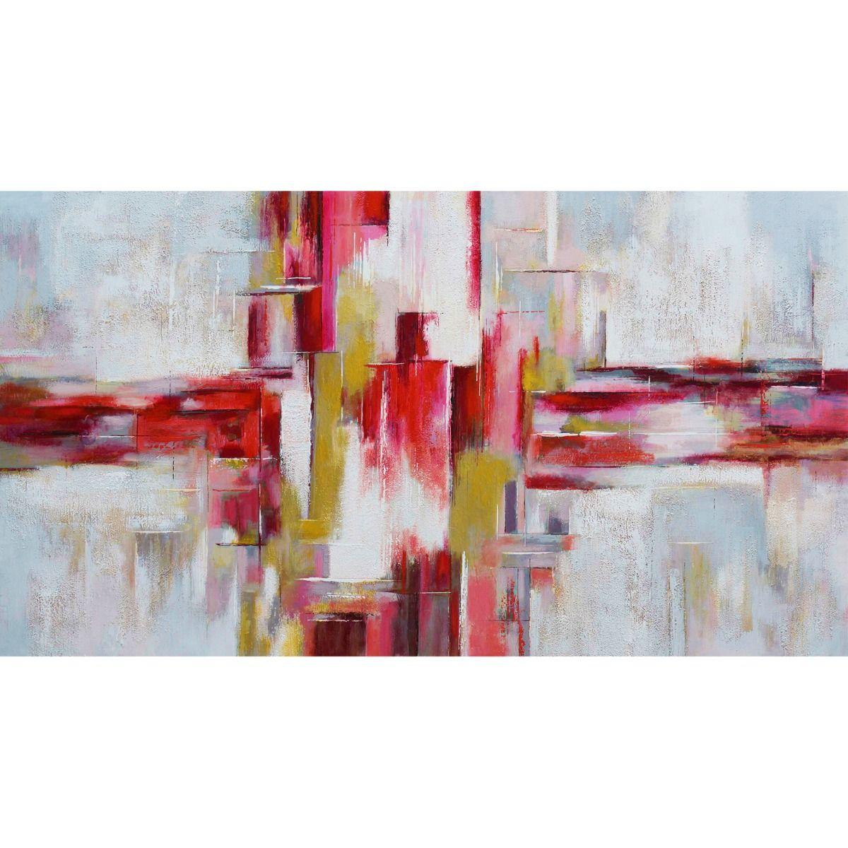Serie ABSTRACTO | Cuadro abstracto rojo (180 x 97 cm)