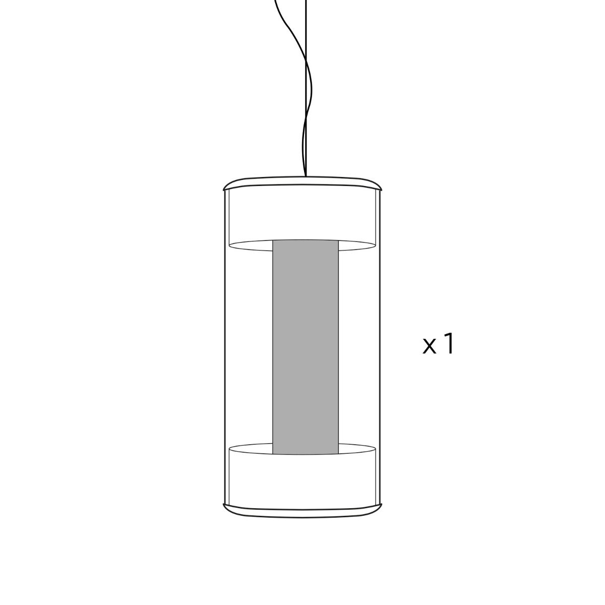 REPUESTOS | GEMINIC & PANBAT Tulipa interior cristal blanco (RGEMPAN-TI)