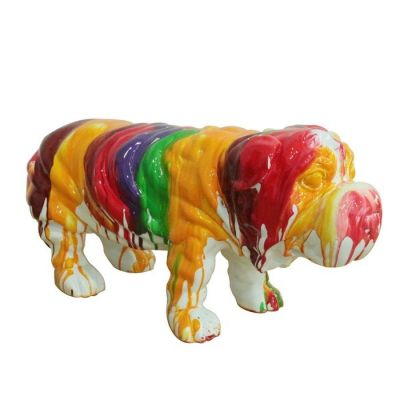 Serie ANIMALES M | TULLY Perro multicolor