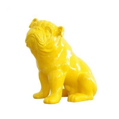 Bulldog jaune assis | Série XS