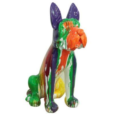 Serie ANIMALES L | Boston Terrier multicolor