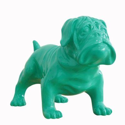 Serie ANIMALES M | Bulldog verde