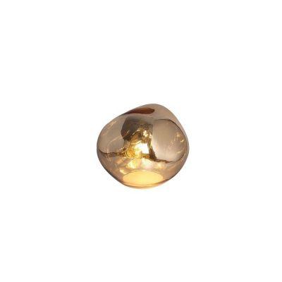 THELIO | Lámpara de mesa dorada (Ø 28 x H 23)