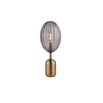 MANICT | Lámpara de mesa smoky (Ø 23 x H 58)