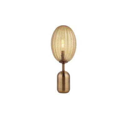 MANICT | Lámpara de mesa ámbar (Ø 23 x H 58)