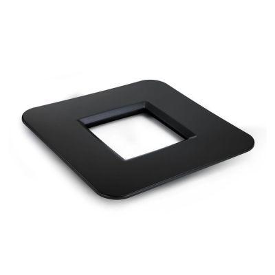 Mesa cuadrada negra | Mediterráneo