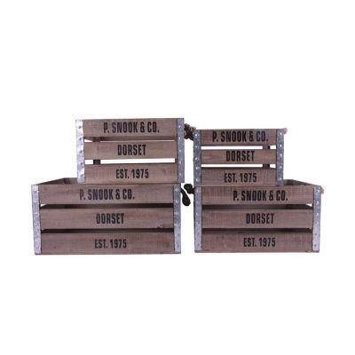 LOME | Set 4 cajas de madera