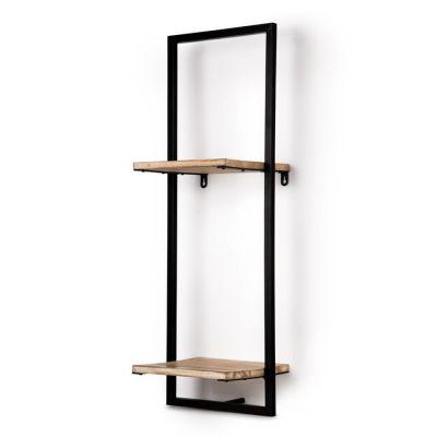 Serie LICK | Estantería de pared vertical 2 baldas (25 x 23 x 75 cm)