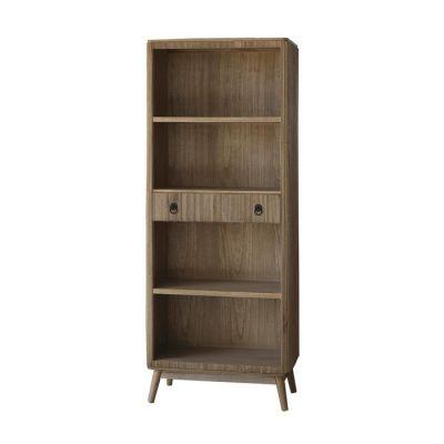 Bibiothèque en bois de paulownia (75 x 40 x 189) | Série Lessime