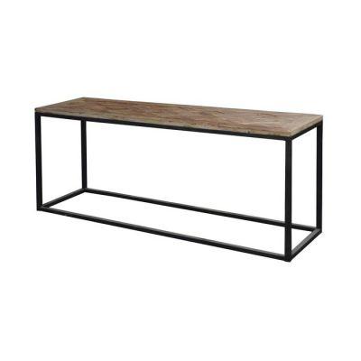 Console en bois d'orme recyclé (160 × 45 × 76) | Série Nege