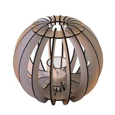 Portavela T-light Sfera | Gris