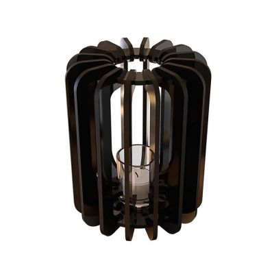 Portavela T-light Cilindro | Negro