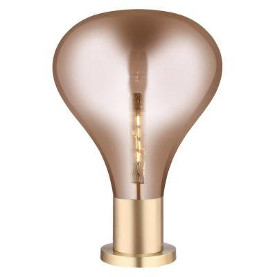 Lampe de table en verre (Ø 40 x H 53) | Triz Ambre