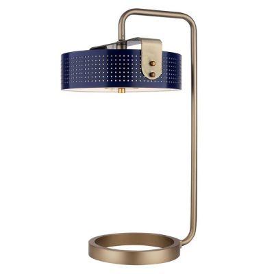 MOHICA Azul | Lámpara de mesa (Ø36 x H 60)