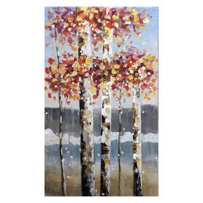Serie NATURALEZA | Cuadro árboles fondo azul (60 x 100 cm)