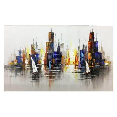 Tableau abstrait voiliers (100 x 60 cm) | Série Nature