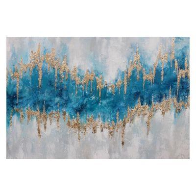 Serie ABSTRACTO | Cuadro abstracto en azul (120 x 80 cm)