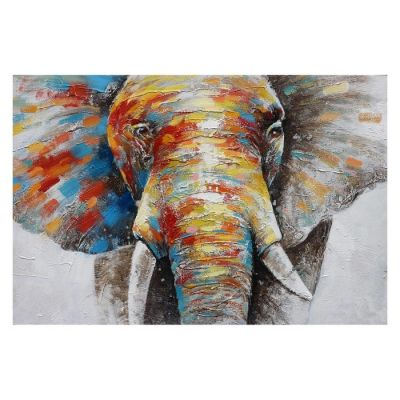 Serie ANIMALES | Cuadro elefante (120 x 80 cm)