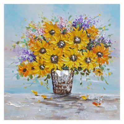 Tableau fleurs (100 x 100 cm) | Série Nature