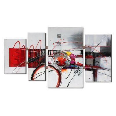 Serie ABSTRACTO | Composición cuadros abstractos (120 x 70 cm)